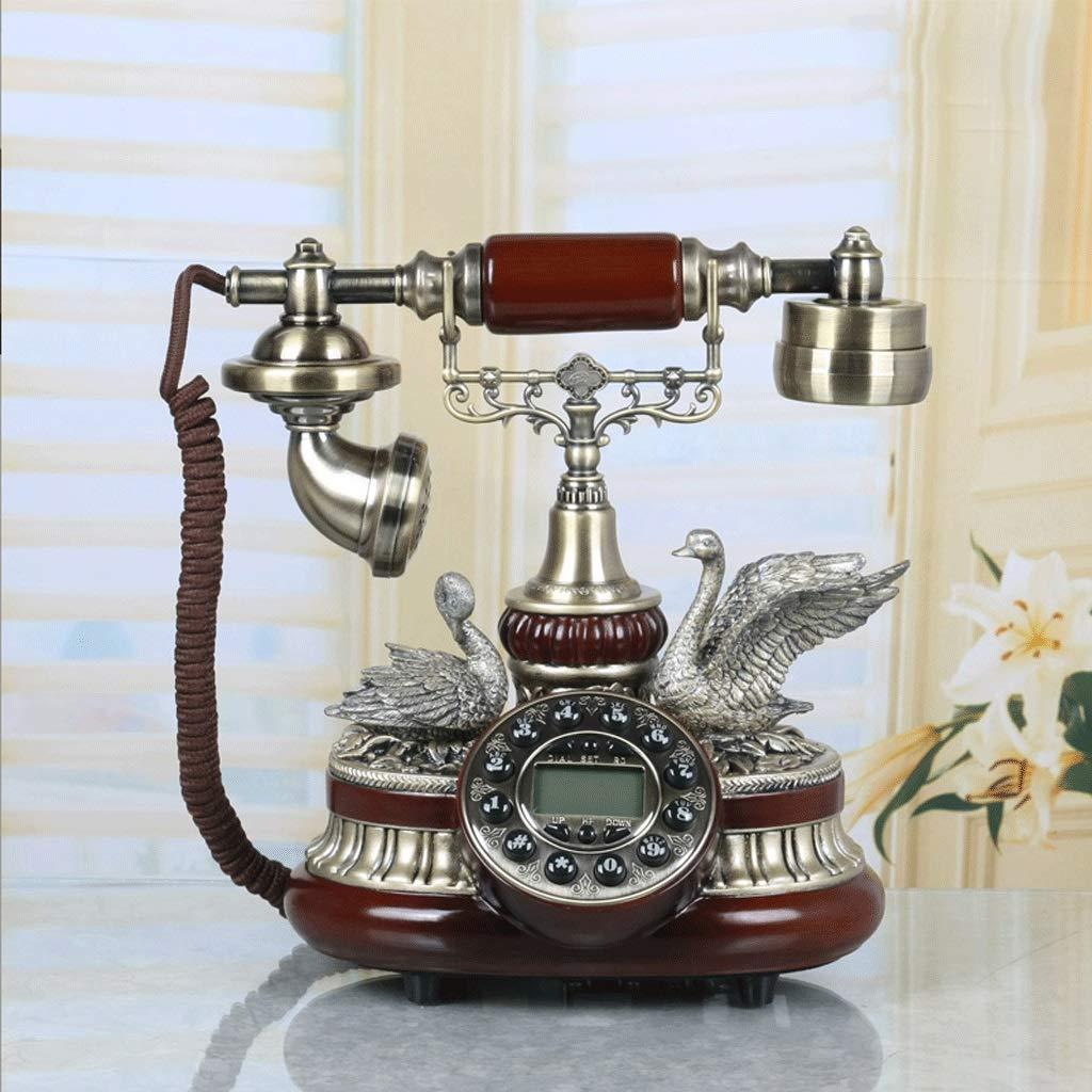 WXL ヨーロッパの電話固定電話ホーム固定レトロクリエイティブヴィンテージアンティークファッション (色 : ブロンズ)  ブロンズ B07QXN2MQ1