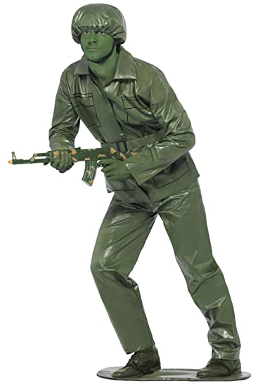 Smiffy's Mens Toy Soldier Costume Fancy Dress Large