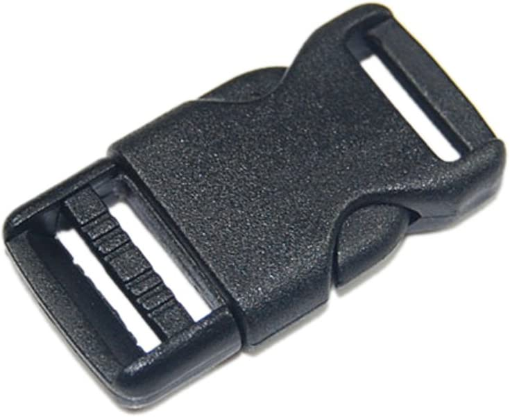 Side Release Buckles for Bag//Purse//Jewellery Making Black Plastic Bag Buckles