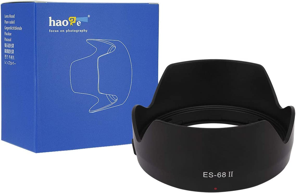 Haoge Bayonet Petal Flower Reversible Lens Hood Compatible with Canon EF 50mm f/1.8 STM Lens Replaces Canon ES-68