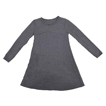 SODIAL(R)Ropa femenina Blusa de Sueter de division de talla mas grande Vestido