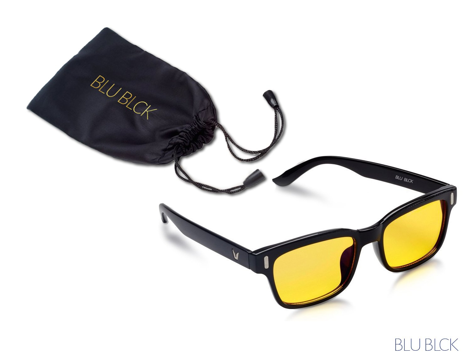 Blue-light Blocking Glasses help to REDUCE artificial blue light to help improve sleep, eyestrains from Cellphone, Computer LCD and LED, Unisex Glasses (Black Frame)