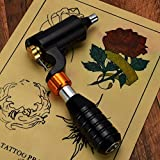 Chartsea Professional Body Art L Shape Tattoo Motor Hybrid Tattoo Pen Rotary Tattoo Machine Permanent Makeup (Black)