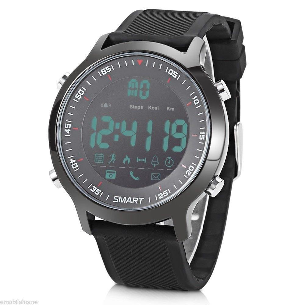 OOLIFENG Inteligente Deporte Reloj Hombres 5ATM Impermeable Bluetooth 4.0 Recordatorio de Llamada Relojes Luminosos, Black: Amazon.es: Deportes y aire libre