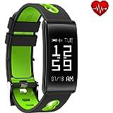 Fitness Tracker, Activity Tracker Cardiofrequenzimetro, Pedometro, Calorie, Monitor del Sonno, Telecomando Riproduzione Camera, da Polso Braccialetto Smartwatch Bluetooth per IOS e Android
