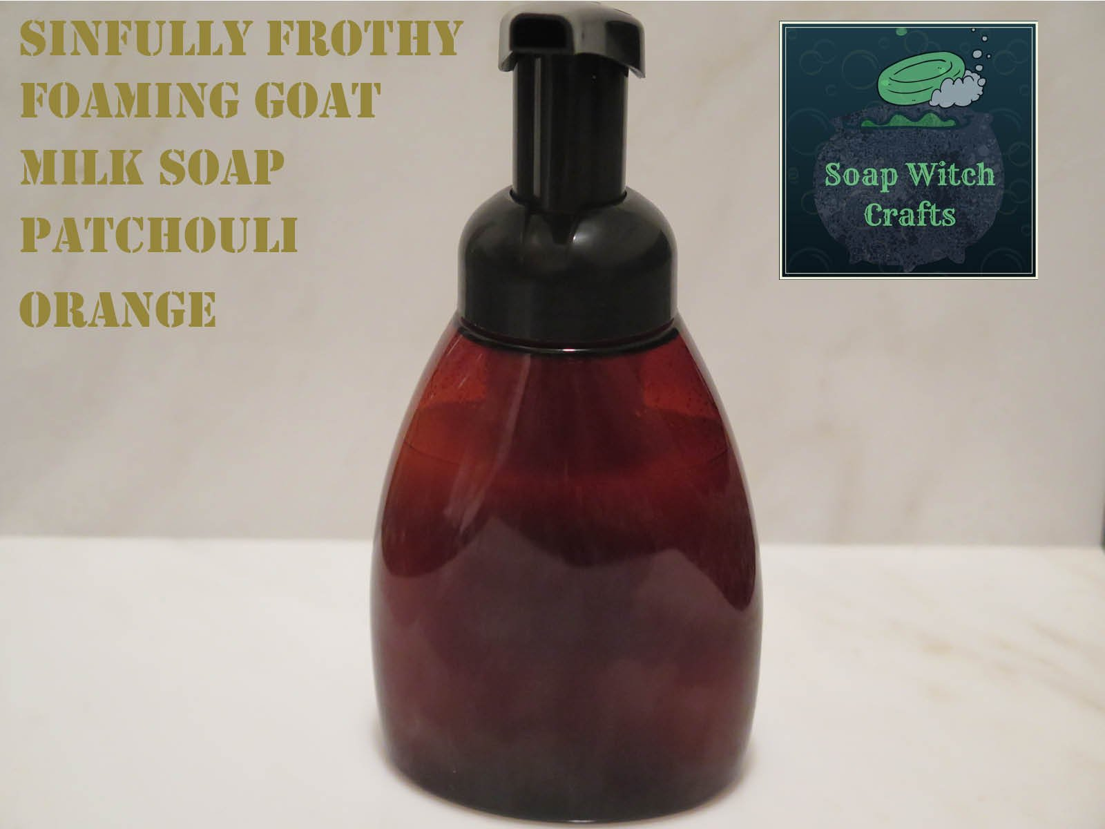 Sinfully Frothy Foaming Goat Milk Soap - Patchouli Orange Scented