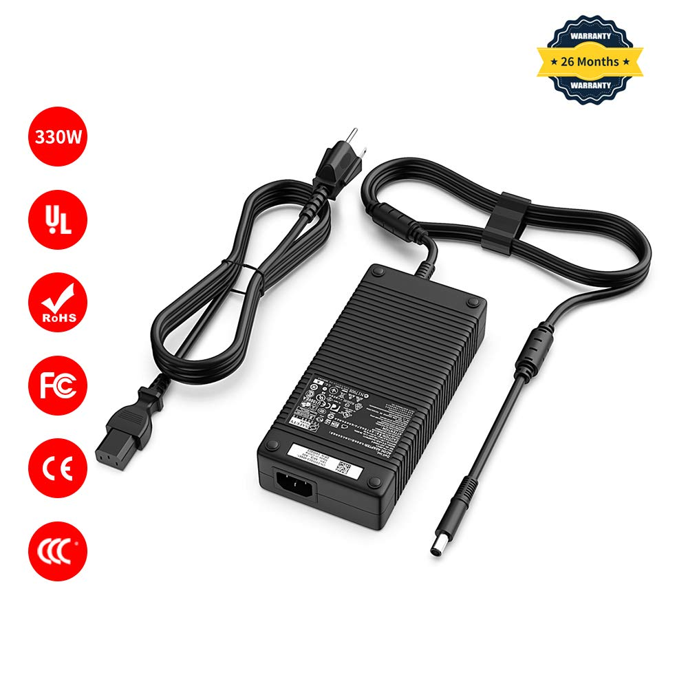 Delippo AC Adapter 19.5V 16.9A 330W Power Supply ADP-330AB D for Dell DA330PM111 D XM3C3 0XM3C3 ADP-330AB B Dell Alienware x51 M18x M18x R1 R2 R3 M18X-0143 Laptop Charger