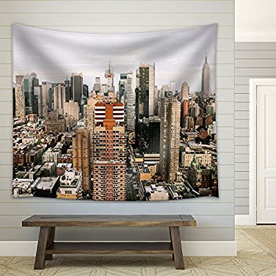 Premium Product, Unbelievable Expert Craftsmanship, Skyline View of City Buildings Fabric Wall