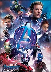 "Ata-Boy Marvel Comics Avengers Endgame Group on Blue 2.5"" x 3.5"" Magnet for Refrigerators and Lockers"