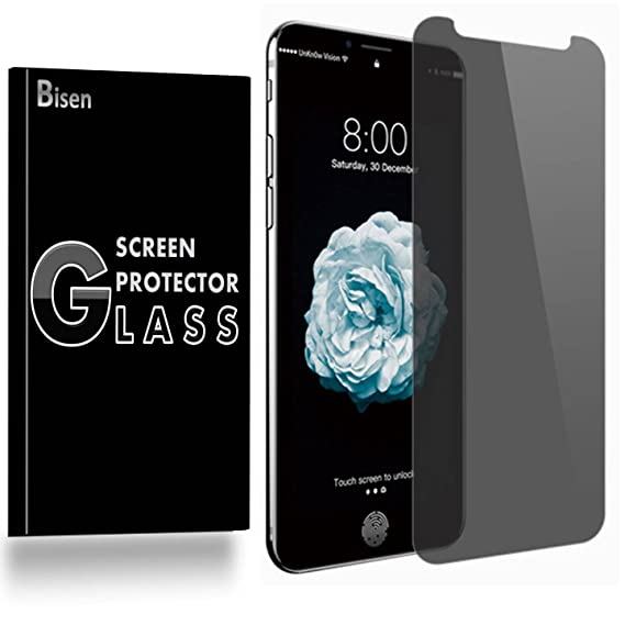 big sale 68cfc d669d Amazon.com: [BISEN] for iPhone XS Privacy Screen Protector Tempered ...