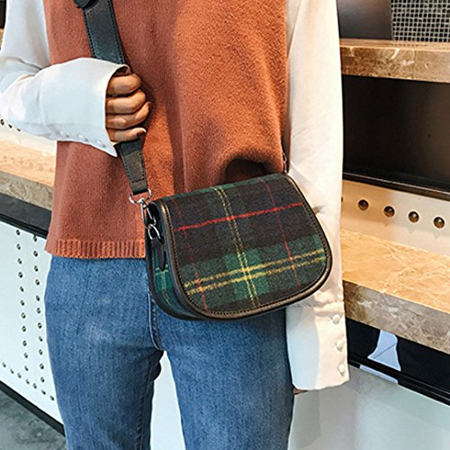 Crossbody Black Shoulder Plaid Velvet Women Millya Flap Messenger Bag Purse fqxZvw7g
