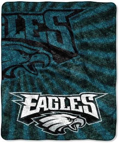 Amazon Com Northwest Nfl 065 Strobe Philadelphia Eagles Sherpa Blanket Home Kitchen