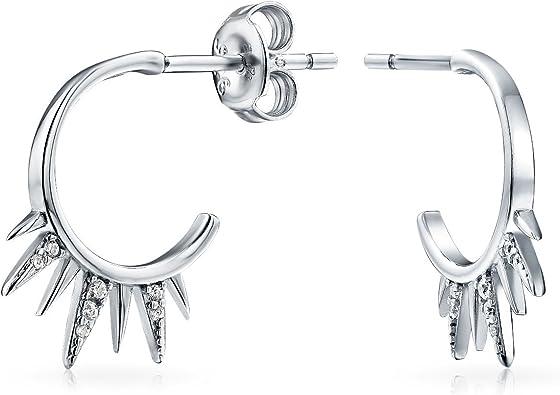 Spike stud earrings Silver earrings spike earrings Ear stud earrings for women jewelry gift for women statement earrings