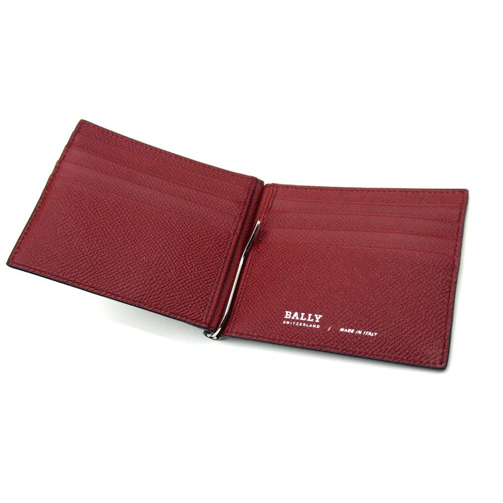 99ed70607922 Amazon.co.jp: バリー/BALLY マネークリップ財布 BODOLO.B 216 6205393 ブラックxレッド 並行輸入品:  服&ファッション小物