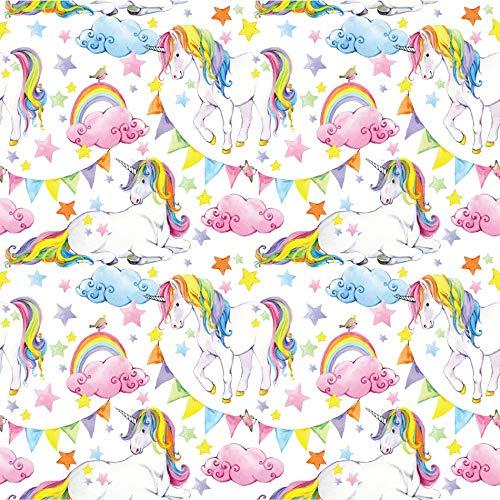 Papel de Parede Unicornio Arco Iris - Infantil 2,70x0,57m