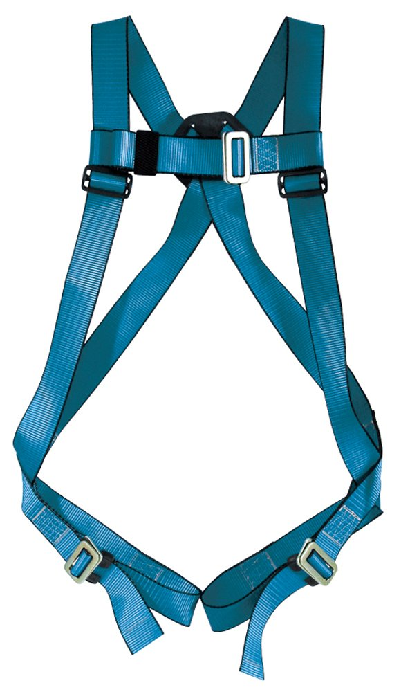 Tractel A432S Phoenix Harness with Quick-Connect Legs and Single Sliding D-Ring, Small, Blue/Black