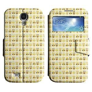 LEOCASE Del Búho Funda Carcasa Cuero Tapa Case Para Samsung Galaxy S4 I9500 No.1000301