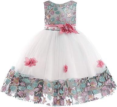 K Youth Vestidos De Fiesta Para Niñas Elegantes Vestidos Para Niñas Bebes Ropa Niña Tutú Princesa Bordado Flor Encaje Vestido De Niña Barata En Oferta Moda Vestido Bebe Niña Bautizo Amazon Es Ropa Y