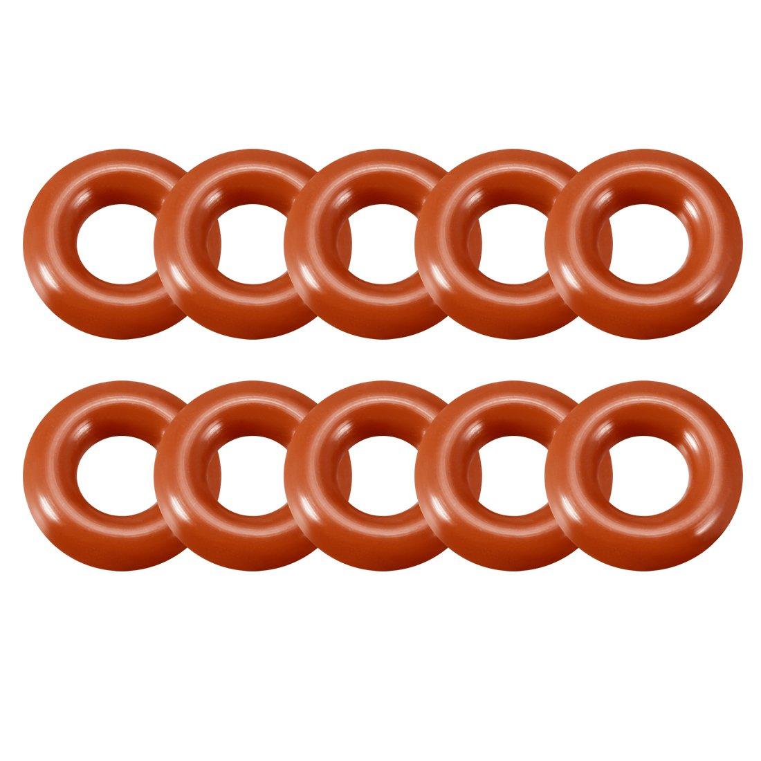anneaux de joint d/étanch/éit/é Joint Rouge a18032800ux0103 10/mm-28/mm Diam/ètre ext/érieur Sourcingmap Coque en silicone Joint torique