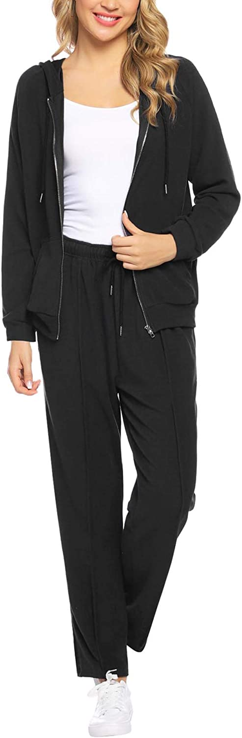 Abollria Womens Velour Sweatsuit Set Zip up Hoodie and Pants Sport Suits Tracksuits