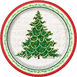 Classic Christmas Tree Paper Cake Plates, 8ct