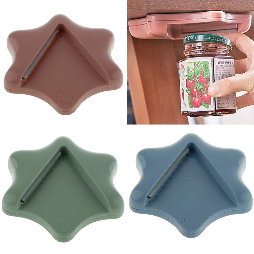 Blue Baoblaze Jar Bottle Opener Under Cabinet Counter Top Lid Remover Can Opener