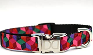 product image for Diva Dog UBS28 Block Party Dark Dog Collar - Extra Small & Small Sized