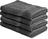 Kyпить Cotton Large Hand Towels (Grey, 4-Pack,16 x 28 inches) - Multipurpose Use for Bath, Hand, Face, Gym and Spa - By Utopia Towels на Amazon.com