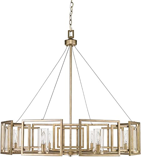 Golden Lighting 6068-8 WG Marco Chandelier – Large, White Gold