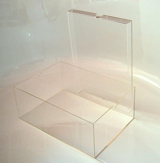 Caja para almacenamiento de zapatos, de vidrio acrílico, con tapa, color transparente: Amazon.es: Hogar