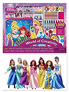 disney princess ultimate collection 7 pack anna elsa rapunzel ariel belle merida cinderella disney princess world of creativity activity set