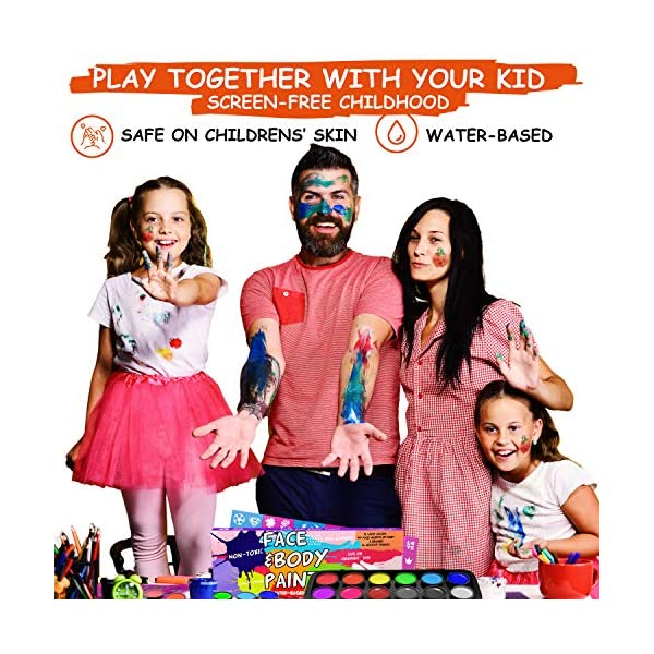 Face-Painting-Kits-for-Kids–Face-Paint-Kit-Facepaints-Halloween-Makeup-Face-Painting-Kits-Professional–Water-Activated-Kids-Face-Paint-Non-Toxic-Hypoallergenic–Baby-Safe-Body-Paint–Stencils