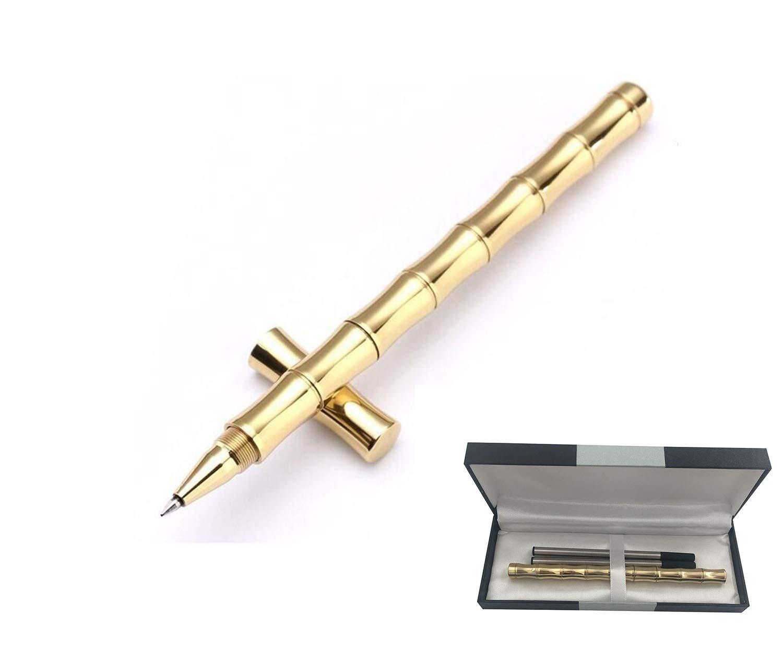 Bolígrafo de bambú de latón macizo