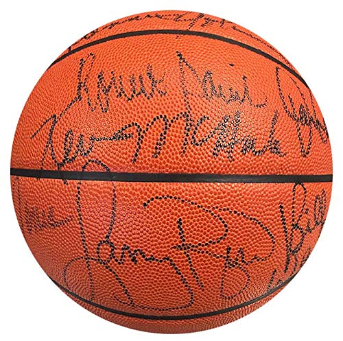 1986 Boston Celtics Autographed Official NBA Leather Basketball (UDA) ()