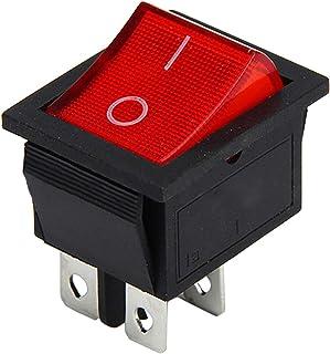 5 Stücke Premium Qualität On/Off Rocker Stil Netzschalter DPST Boot Wippschalter 16A / 250 V 20A / 125 V AC
