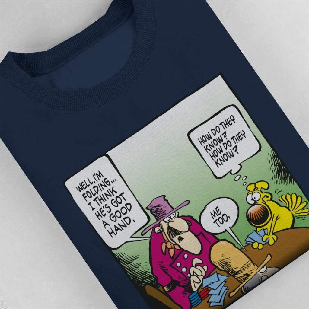 Comics Kingdom Grimmy Poker Fold Mens Sweatshirt