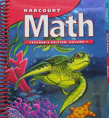 Harcourt Math, Vol. 1, Grade 4, Teacher's Edition