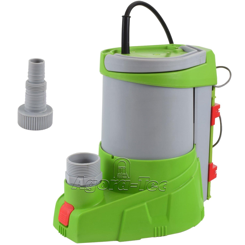 Agora-Tec AT-Tauchpumpe clear water 250W-vario-control (flachsaugend auf 1 mm) stufenlos einstellbarer integrierten Schwimmerschalter mit Rü ckschlagventil und max: 0, 4 bar und max: 3000l/h