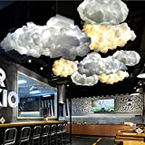 HITSAN White Floating Cloud Pendant Light Restaurant Bar Lamp Fixture For Indoor Lighting Decoration One Piece