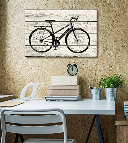 Bicycle Bike Silhouette Artwork Rustic