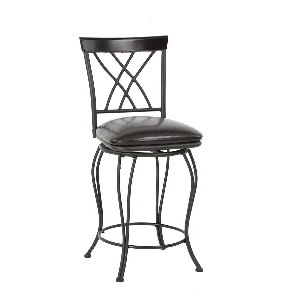 FurnitureR 24'' Circles-Back Swivel Bar stool Counter Height Bar Chair by FurnitureR (Image #3)