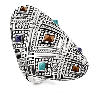 dff489ab358b Thomas Sabo Women Ring Africa Ornaments 925 Sterling Silver ...