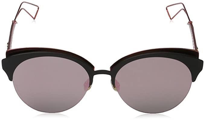 Amazon.com  Christian Dior Diorama Club Sunglasses Matte Black Red Grey  Rose Gold (EYM AP)  Clothing 324d7e17b8