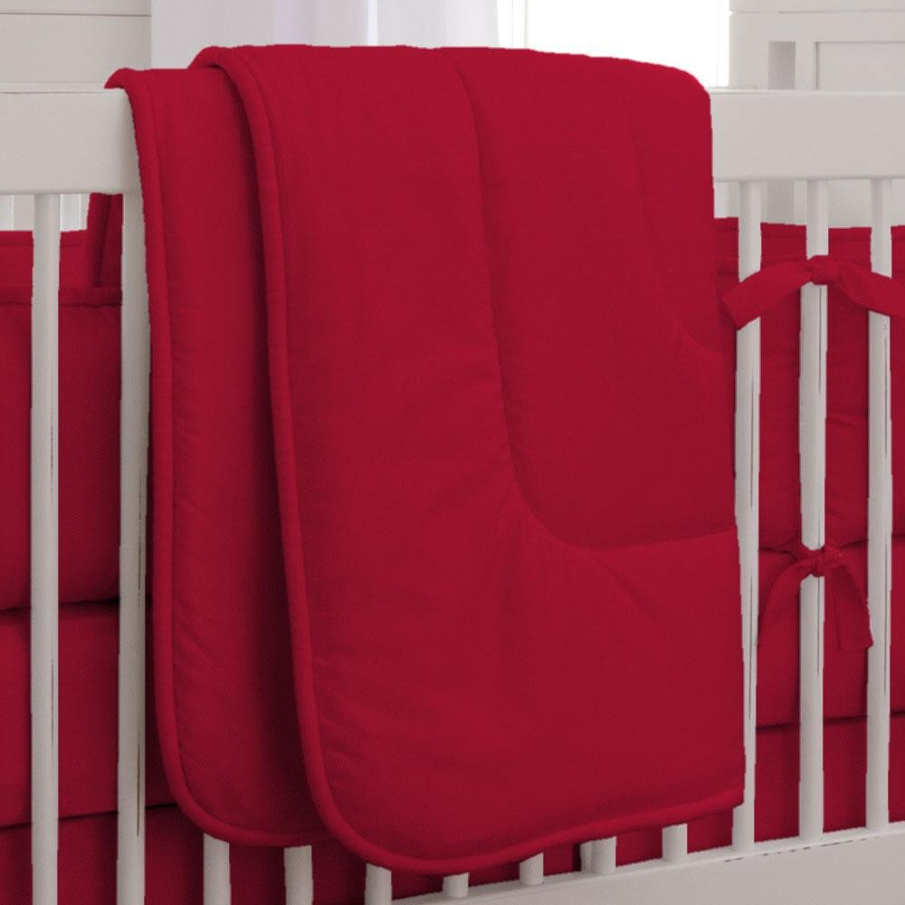Carousel Designs Solid Red Crib Comforter