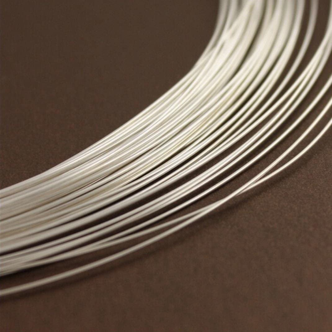 Authentic Sterling Silver Wire Dead Soft Jewelry Wire 20 Feet Round Beading Wire wire ~ 0.8mm or 20 Gauge SS283-0.8