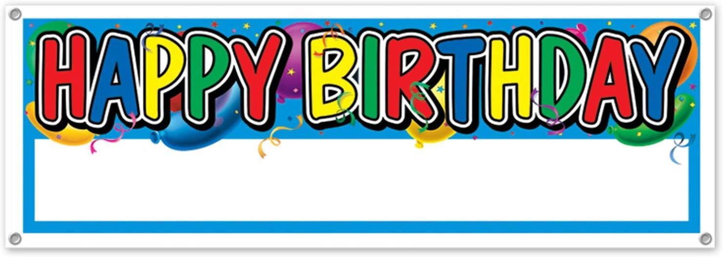 Amazon.com: Beistle 50187 Letrero De Cumpleaños Banner, 5 ...