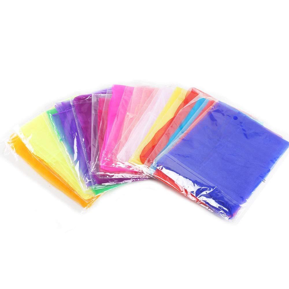 FOGAWA 20pcs Jonglage Foulards Ourl/é Multicolore Foulards Danse Carr/é Jonglerie /Écharpe pour Enfant B/éb/é Magie Jonglage Spectacle