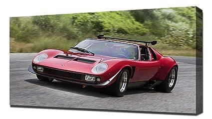 Amazon Com Lilarama Usa 1968 Lamborghini Miura Jota Svr V7 Canvas