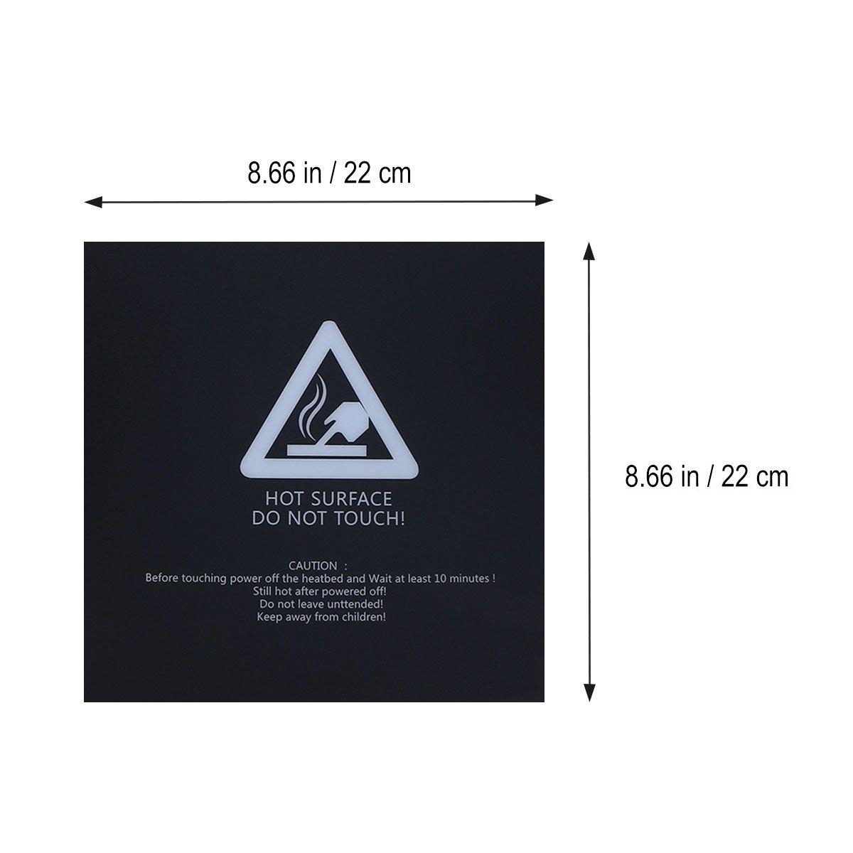 UEETEK Superficie de Impresión 3D 220mm x 220 mm (Cuadrado) - 3 ...