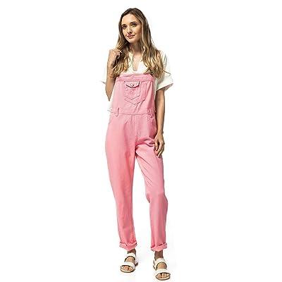 Anna-Kaci Dril de algodón de Las Mujeres Blue Jeans Rectos Bolsillos Tipo Peto Pantalones de Cintura pantalón Vaquero: Ropa y accesorios